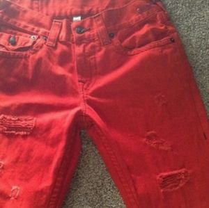 True religion red jeans